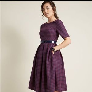 Vintage style plaid dress from Modcloth